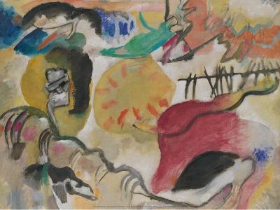 Improvisation 27 (Garden of Love II), 1912-Wassily Kandinsky-Art Print