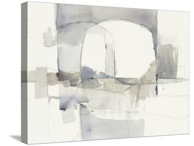 Improvisation I Gray Crop-Mike Schick-Stretched Canvas Print