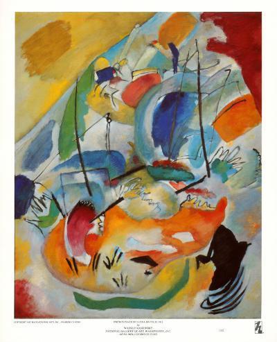 Improvisation No. 31, Sea Battle, c.1913-Wassily Kandinsky-Art Print