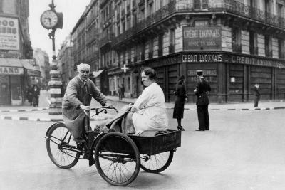 Improvised Bicycle Vehicle, German-Occupied Paris, 1940-1944--Giclee Print