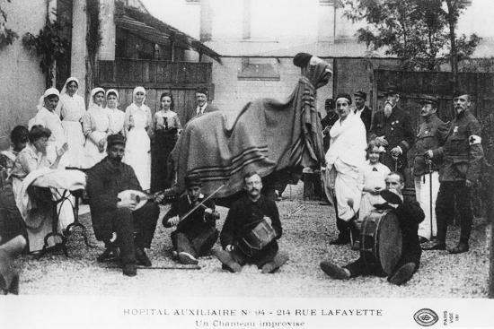 Improvised Camel, Auxiliary Hospital, Rue Lafayette, Paris, France, World War I, 1914-1918--Giclee Print