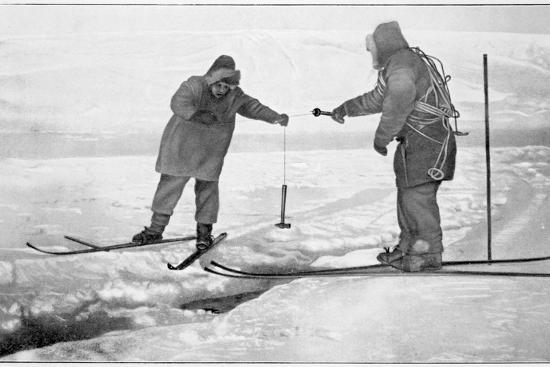 Improvised sounding tackle, Antarctica, 1911-1912-Unknown-Photographic Print