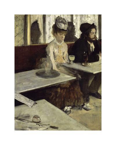In a Cafe, 1873-Edgar Degas-Premium Giclee Print