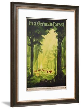 In a German Forest', Poster Advertising Tourism in Germany, C.1935 (Colour Litho)-Jupp Wiertz-Framed Giclee Print
