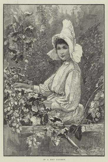 In a Hop Garden-Henry Charles Seppings Wright-Giclee Print