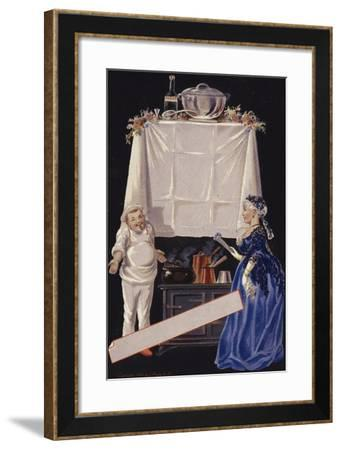 In a Kitchen--Framed Giclee Print