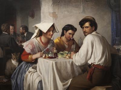 In a Roman Osteria, 1866-Carl Bloch-Giclee Print