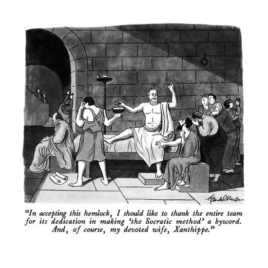 """""""In accepting this hemlock, I should like to thank the entire team for its?"""" - New Yorker Cartoon-J.B. Handelsman-Premium Giclee Print"""