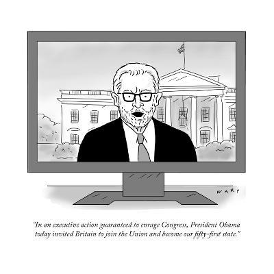 """In an executive action guaranteed to enrage Congress, President Obama tod?"" - Cartoon-Kim Warp-Premium Giclee Print"