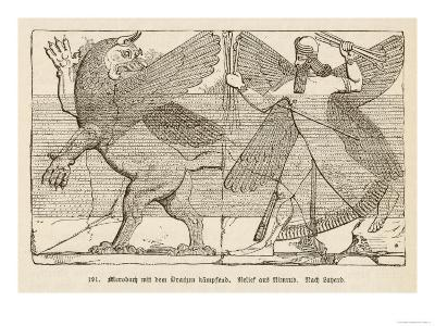 In Ancient Assyria Merodach Does Battle with a Dragon--Giclee Print