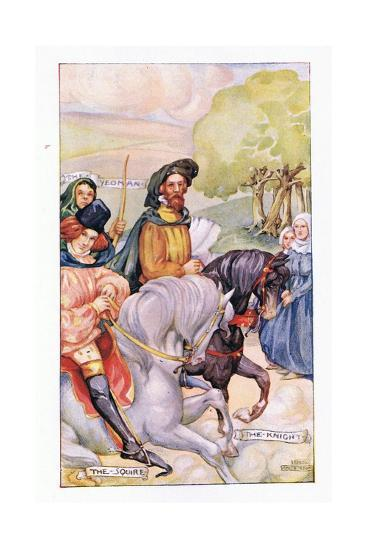 In Attendance on the Knight Was His Son-Anne Anderson-Giclee Print