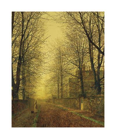 In Autumn's Golden Glow-John Atkinson Grimshaw-Premium Giclee Print