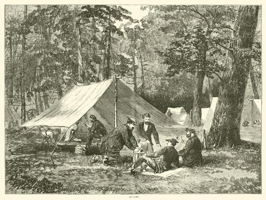 In Camp, July 1863--Giclee Print