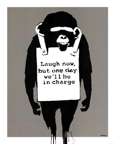 In Charge Monkey--Art Print