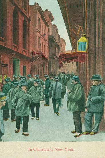 In Chinatown, New York, 1914--Giclee Print