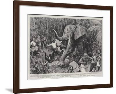 In Darkest Africa, an Incident of Mr Lloyd's March Through the Great Pygmy Forest-Frank Dadd-Framed Giclee Print