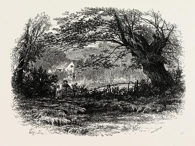 In Depedale, the Dales of Derbyshire, Uk, 19th Century--Giclee Print