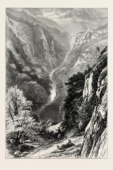 In Dove Dale, UK, 19th Century--Giclee Print