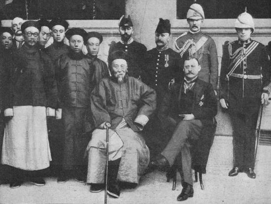 'In Far Cathay - An interesting group at Hong Kong, taken before Li Hung went to Pekin', 1900-Unknown-Photographic Print