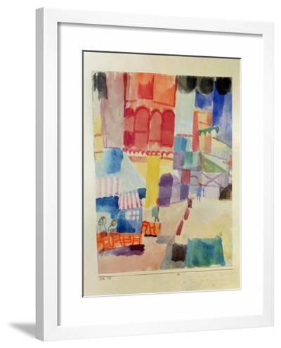 In Front of a Mosque in Tunis, 1914-Paul Klee-Framed Giclee Print