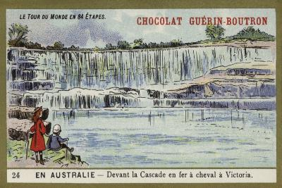 In Front of Horseshoe Falls, Victoria, Australia--Giclee Print