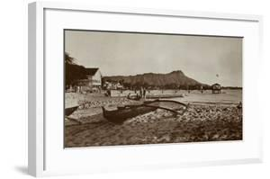 In Front of Outrigger Canoe Club, Waikiki Beach, Hawaii, 1917