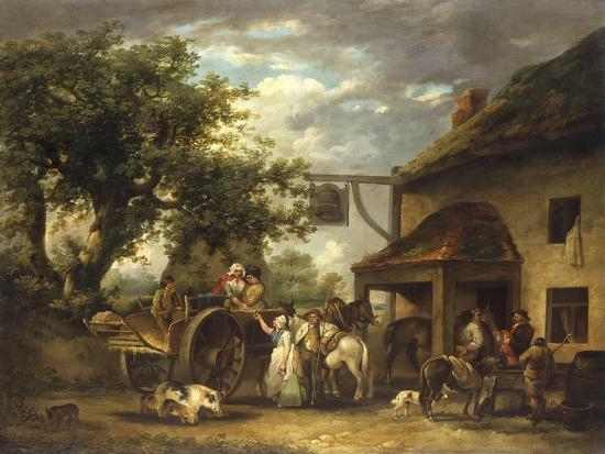 In Front of the Bell Inn, 1793-George Morland-Giclee Print