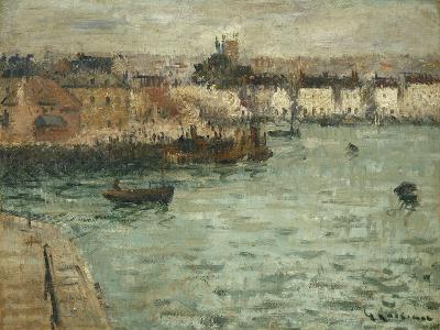 In Front of the Port of Dieppe; Avant Porte De Dieppe, 1918-1920-Gustave Loiseau-Giclee Print