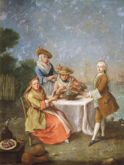 In Gardens of Estuary, 1760-1770-Pietro Longhi-Giclee Print