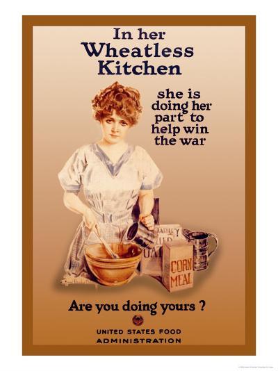 In Her Wheatless Kitchen-Howard Chandler Christy-Art Print