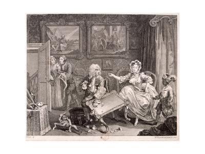 In High Keeping by a Jew, Plate II of the Harlot's Progress, 1732-William Hogarth-Giclee Print