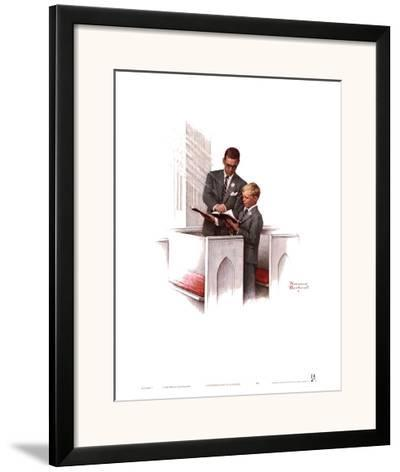 In His Spirit-Norman Rockwell-Framed Art Print