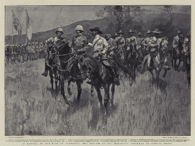 In Honour of the King of Portugal, the Review on His Majesty's Birthday at Komati Poort-Frank Craig-Giclee Print