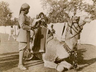 In India During the Raj, There Was No Need for Children to Go to a Zoo for a Camel Ride--Photographic Print