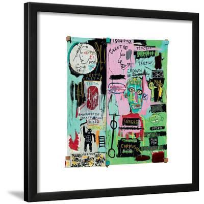 In Italian, 1983-Jean-Michel Basquiat-Framed Giclee Print