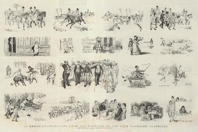 In Memoriam, Selections from the Drawings of the Late Randolph Caldecott-Randolph Caldecott-Giclee Print
