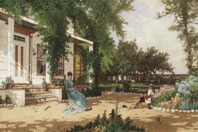 In My Neighbours Garden, 1883-Alfred Thompson Bricher-Giclee Print