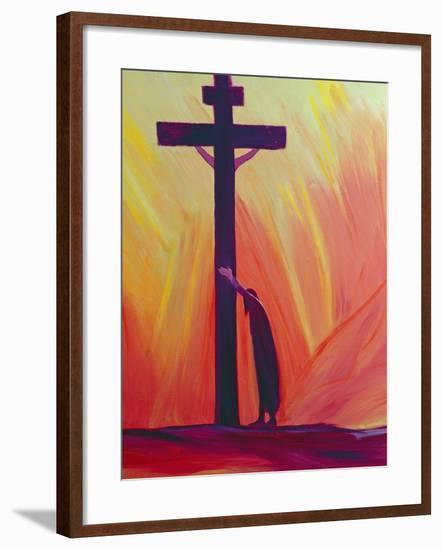 In Our Sufferings We Can Lean on the Cross by Trusting in Christ's Love, 1993-Elizabeth Wang-Framed Giclee Print