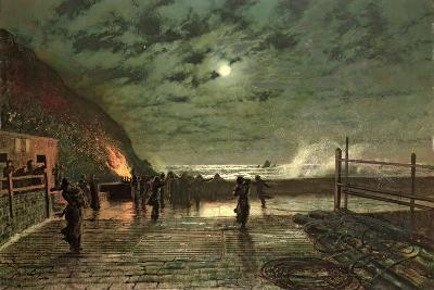 In Peril (The Harbour Flare) 1879-John Atkinson Grimshaw-Giclee Print