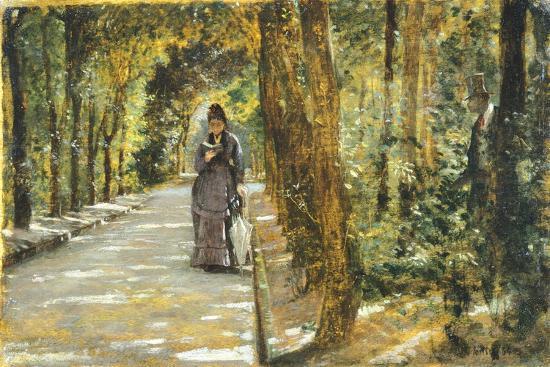 In Portici Forest-Giuseppe De Nittis-Giclee Print