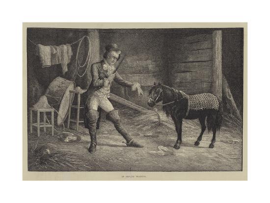 In Private Training-Frank Feller-Giclee Print