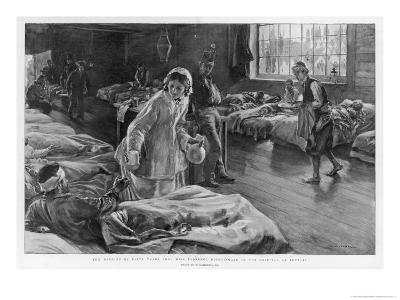 In Scutari Florence Nightingale Attends to a Patient-William Hatherell-Giclee Print