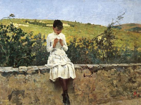 In Settignano Hills-Telemaco Signorini-Giclee Print