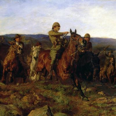 In Sight - Lord Dundonald's Dash on Ladysmith, 1900 (Detail of 17136)-Lucy Kemp-Welch-Giclee Print