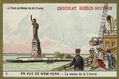 In Sight of New York - the Statue of Liberty--Giclee Print