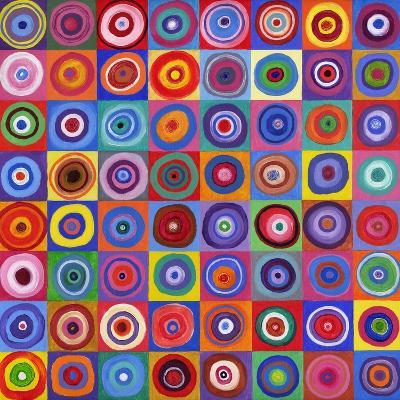 In Square Circle 64 after Kandinsky, 2012-David Newton-Giclee Print