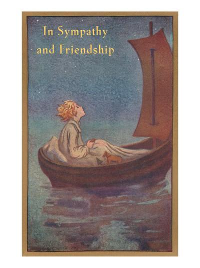 In Sympathy and Friendship, Little Prince in Boat--Art Print