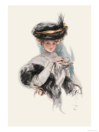 In Teacup Times-Harrison Fisher-Art Print