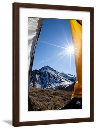 In Tent Looking Out At The View-Lindsay Daniels-Framed Photographic Print