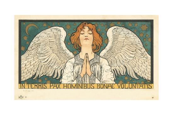 In Terris Pax Hominibus Bonae Voluntatis Postcard--Giclee Print